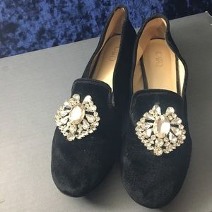 Cato black fabric loafers size 8